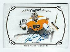 Steve Mason 2015-16 Upper Deck Champs Hockey Autograph on Card auto