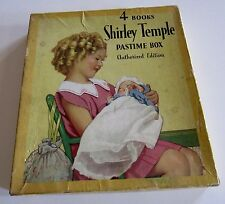 SHIRLEY TEMPLE 1937 4 BOOKS SHIRLEY TEMPLE PASTIME BOOK SET w/ BOX   #1732