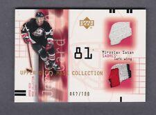 2001-02 Upper Deck Mask Collection Jersey Patch Miroslav Satan Card #JP-MS /#100