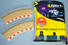 HORNBY SCALEXTRIC SLOT CAR RACING CURVED RADIUS OUTSIDE TRACK BORDERS 45 DEGREE