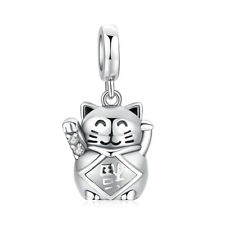 JewelryPalace 925 Sterling Silver Luck Love Lucky Cat Charm Beads