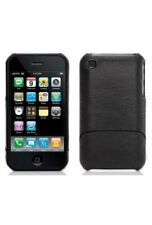 Genuine Griffin Elan Form Chrome Leather Black Case for Apple iPhone 3G 3GS