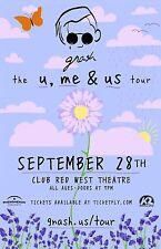 "GNASH ""U ME & YES TOUR"" 2016 TUCSON CONCERT POSTER-Alternative R&B/Hip Hop Music"