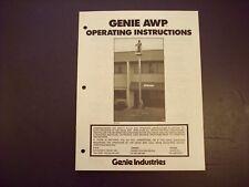Genie AWP Operating Instructions 24145