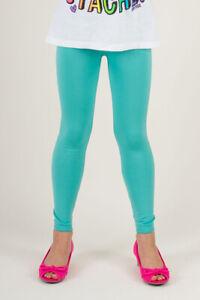 Kids Girls Full Length Fleece Lined Thick Warm Leggings pants