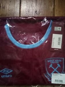 west ham united 2020/2021 home shirt Size adult large New in pack & with tags