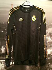 Real Madrid 2011/12 player issue l/s away shirt jersey - Medium