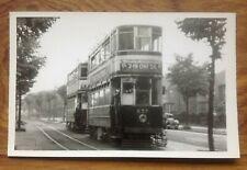 Photograph Birmingham Tram no.637 at Pipe Hayes 1954. Free UK P&P
