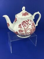 "Vintage, 6.5"" Tall Sadler Pink Willow Teapot, Made in England"