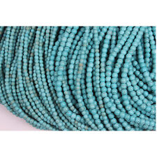 4mm Strand Faux Turquoise Beads Round Small Spacer Stone Blue 100pc