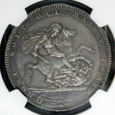 1818 LIX Great Britain Crown NGC AU58 Silver - w/ HD Video in Description