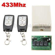 12V 4CH 200m 433Mhz Télécommande Sans Fil Interrupteur Commande + 2 Récepteur