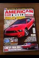 American Car World Magazine Nov 06 Chevy Malibu, Mustang Ragtop, GT500, Fastback
