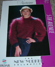 Nocturne Sirdar Knitting Pattern Lady's Mohair Patterned Sweater C8717