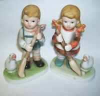 Vintage Little Homemakers Boy and Girl Figurines Set of Two
