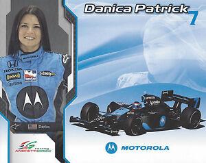 "2008 INDY 500 DANICA PATRICK  ANDRETTI AUTOSPORT INDYCAR 8""X10"" HERO CARD !"