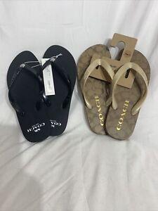 NEW COACH Sandal Flip Flop