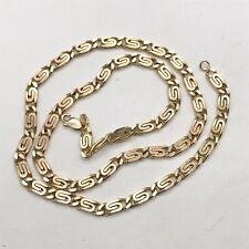 VINTAGE LADIES COSTUME JEWELLERY GOLD TONE CELTIC STYLE NECKLACE CHAIN
