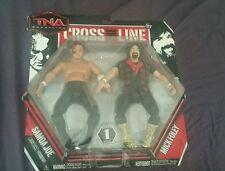 Samoa Joe vs Mick Foley action figure set TNA 2010 RARE!!