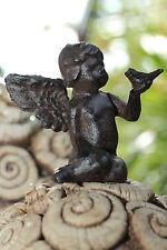 Gusseisen Engel braun Skulptur Figur Garten Deko Metall
