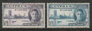 Cyprus 1946 Victory set SG 164-165 Mnh.