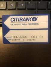"VTG COLLECTIBLE CITIBANK ""EXCLUSIVO PARA DEPOSITOS"" BANK CARD, exp 1993 (B4)"