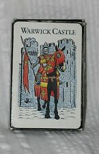 WARWICK CASTLE England Plastic Coated PLAYING CARDS Sampson Souvenirs UK Britain