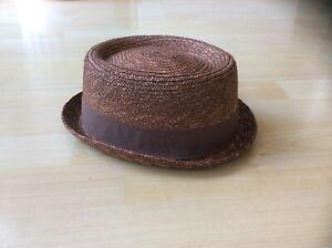 Kangol Tan Wheat Braid Pork Pie Hat, Size: Medium - New with tags