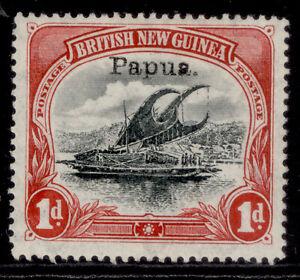 AUSTRALIA - Papua EDVII SG39, 1d black & carmine, M MINT. Cat £11.