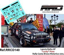 """DECAL/CALCA 1/43; Lancia Delta Integrale; """"Lucky""""-Pons; Rally Costa Brava 2015"""