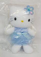 "RARE 2000 Sanrio HELLO KITTY Blue ANGEL Mascot Plush 6"" Doll NEW with TAGS"
