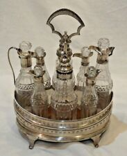 Late 18th Century Peter Anne & William Bateman Sterling Silver Cruet Set