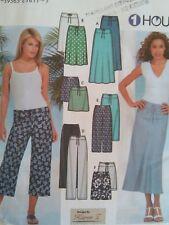 Simplicity Sewing Pattern-Misses' 1 Hour PANTS-SKIRT-SHORTS-Size: 6-12-Uncut