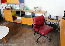 HERMAN MILLER EAMES VINTAGE ALUMINUM GROUP SOFT PAD MANAGEMENT CHAIR LEATHER