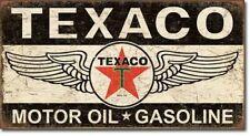 Texaco Motor Oil Vintage Blechschild Auto Tankstelle Gasoline Reklame 40 x 21 cm