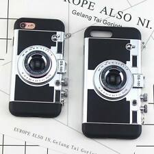 Retro 3D Camera Shockproof Back Phone Case Cover For iPhone X 8 6S 7 Plus 5S SE