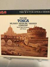 Puccini Tosca full Opera Melodrama Box Set 2 cds Leinsdorf  Rome Opera House