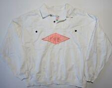 Vintage 80s 90s Gotcha Popover Pullover Surf Skate Cotton Button Jacket White