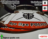 2x Kanjozoku Bye Bye Police Loop One Mask Number Door Plates Sticker Track Decal