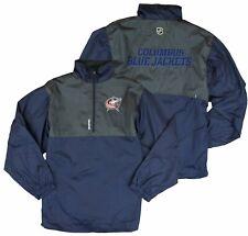 Reebok NHL Youth Columbus Blue Jackets Craftman Hot Jacket - Navy Blue