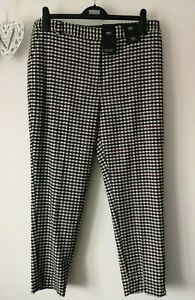 M&S SIZES 10 12 18 20 22 24 WOOL NAVY SLIM ANKLE GRAZER LINED STRETCH TROUSERS