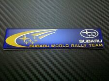 Subaru World Rally Team Blue Car Emblem Badge