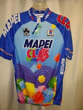 NWT 1994 Team MAPEI CLAS Quarter Zip SS Coins to Cycling Jersey Blue (XL) Vtg.