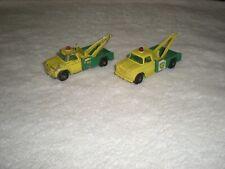 !965 Matchbox No.13D BP Wreck Truck Lot (2) Diecast 1:64