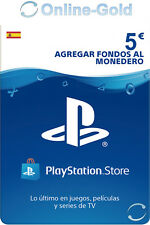 PlayStation PSN Tarjeta Prepago 5€ - 5 Euro Sony PS3 PS4 PS Vita Código - ES