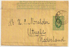 c1905 Cape of Good Hope Kevii ½d Ps wrapper used Pietermaritzburg Natal->Holland
