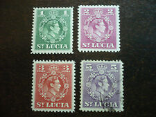 Stamps - St. Lucia - Scott# 135-137 & 139