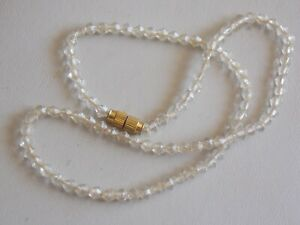 Beautiful Hand Carved Rock Crystal Bead Necklace