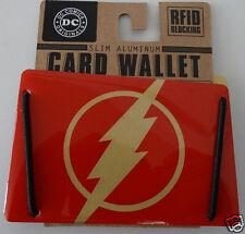 The Flash Dc Comics Slim Aluminum Rfid Blocking Card Wallet