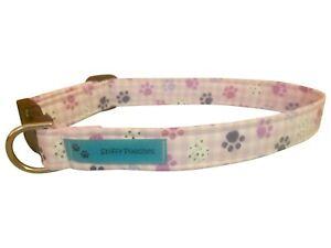 SPIFFY POOCHES Dog Cat Collar Purple PAWS ~B.O.G.O @ 50% OFF C DESCRIPTION~